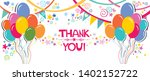 thank you card. horizontal... | Shutterstock .eps vector #1402152722