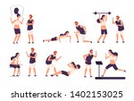 fitness trainer. male personal... | Shutterstock .eps vector #1402153025