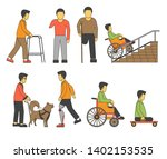 handicapped person injured...   Shutterstock .eps vector #1402153535