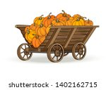 Wooden Cart With The Harvest Of ...