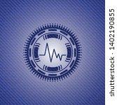 electrocardiogram icon inside... | Shutterstock .eps vector #1402190855