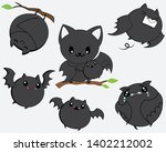 cute bat icon in vector and...   Shutterstock .eps vector #1402212002