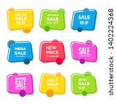 best sale vector banner... | Shutterstock .eps vector #1402224368