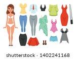 women s clothing items set.... | Shutterstock .eps vector #1402241168