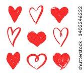 vector draw hearts. valentin's... | Shutterstock .eps vector #1402246232
