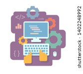 programming and and coding flat ... | Shutterstock .eps vector #1402248992