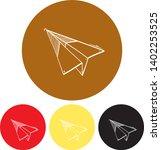 paper plane icon paper plane...   Shutterstock .eps vector #1402253525