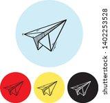 paper plane icon paper plane...   Shutterstock .eps vector #1402253528