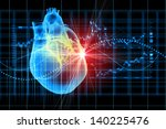 virtual image of human heart...   Shutterstock . vector #140225476