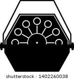 automatic bubble maker machine... | Shutterstock .eps vector #1402260038