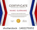 certificate template with... | Shutterstock .eps vector #1402270352