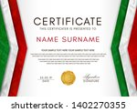 certificate template with...   Shutterstock .eps vector #1402270355