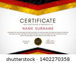 certificate template with...   Shutterstock .eps vector #1402270358