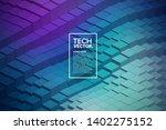 3d technological blocks... | Shutterstock .eps vector #1402275152