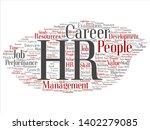 vector concept conceptual hr or ... | Shutterstock .eps vector #1402279085