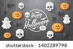 happy halloween vector banner.... | Shutterstock .eps vector #1402289798