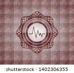 electrocardiogram icon inside... | Shutterstock .eps vector #1402306355