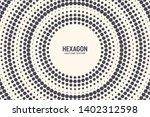 hexagon shapes vector abstract... | Shutterstock .eps vector #1402312598