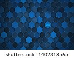 3d science technology hexagonal ... | Shutterstock .eps vector #1402318565