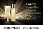 gold cosmetic products with... | Shutterstock .eps vector #1402326008