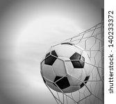 soccer football in goal net... | Shutterstock . vector #140233372