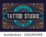 tattoo logo template. old... | Shutterstock .eps vector #1402345598