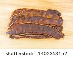 top view of fresh sour tamarind ... | Shutterstock . vector #1402353152