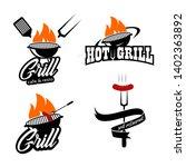 bbq hot grill logo  ideas   Shutterstock .eps vector #1402363892
