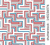 red and blue maze seamless... | Shutterstock .eps vector #140236576