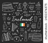 ireland outline vector set.... | Shutterstock .eps vector #1402376375