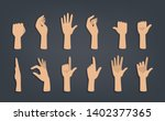 set of hands showing different... | Shutterstock .eps vector #1402377365