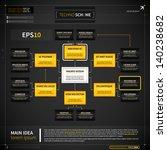 organization chart template in... | Shutterstock .eps vector #140238682