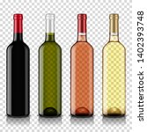 wine bottles set  isolated on... | Shutterstock .eps vector #1402393748