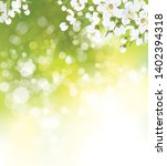 vector blossoming branches of... | Shutterstock .eps vector #1402394318