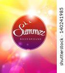 vector summer background | Shutterstock .eps vector #140241985