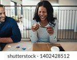 young african american... | Shutterstock . vector #1402428512