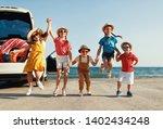 group happy children girls and...   Shutterstock . vector #1402434248