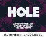 vector bold hole font modern... | Shutterstock .eps vector #1402438982