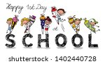 enrolment   first day of school ... | Shutterstock .eps vector #1402440728