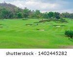 golfcourse  beautiful landscape ... | Shutterstock . vector #1402445282