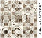 set of vector endless geometric ...   Shutterstock .eps vector #1402451372