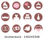 retro wedding design elements... | Shutterstock .eps vector #140245348