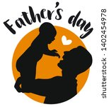 father and baby. black...   Shutterstock .eps vector #1402454978