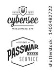 cyber security sign or banner... | Shutterstock .eps vector #1402482722