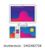 cross platform vector icons... | Shutterstock .eps vector #1402482728