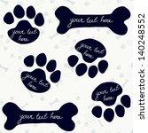 cute frames in shape of dog's... | Shutterstock .eps vector #140248552