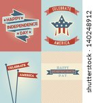 set of independence day vector... | Shutterstock .eps vector #140248912