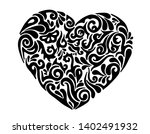 hand drawn heart with tribal... | Shutterstock .eps vector #1402491932
