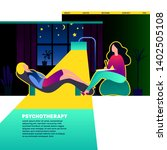 psychologist  psychotherapist...   Shutterstock .eps vector #1402505108