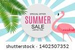 summer sale concept background. ... | Shutterstock .eps vector #1402507352